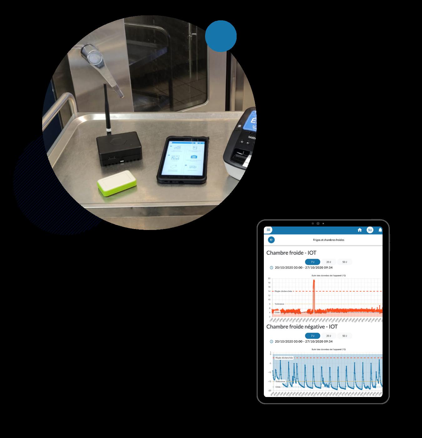 Capteurs & tablette EEat
