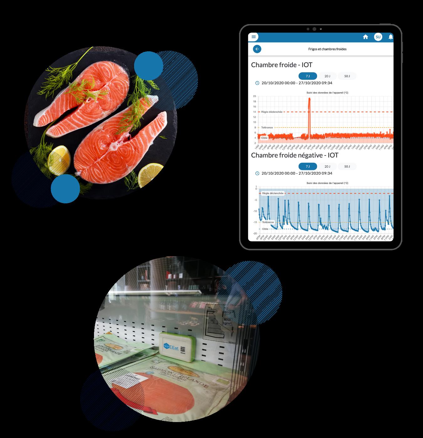 Capteurs & tablette EEat en poissonnerie