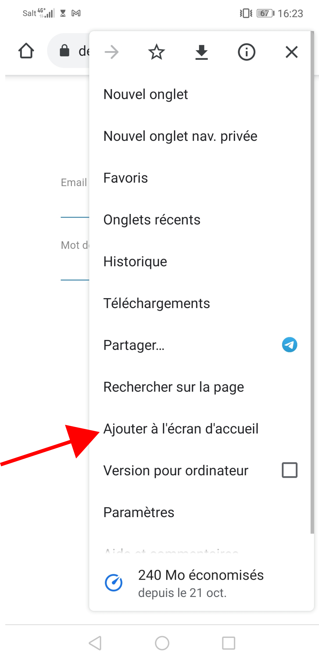 Installation application EEat sur android